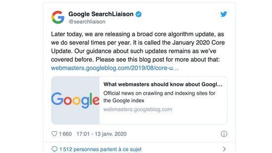 algorithme google twitter